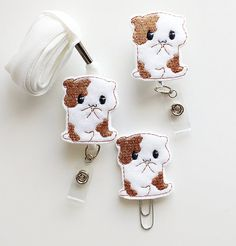 Hamster Feltie Paperclip | Badge Reel | ID Badge | Felt Badge | Badge Holder | Lanyard | Planner Clip | Planner Accessories | Animal Feltie
