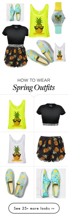 """Pineapple"" by kgillard on Polyvore featuring Keds"