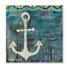 Stupell Coastal Anchor Graphic Art Beach Wall Plaque