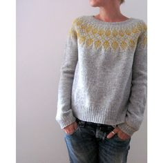 Isabell Kraemer Humulus Sweater Kit - Isabell Kraemer - By Designer - Kits Diy Knitting Projects, Knitting Kits, Hand Knitting, Yarn Projects, Handgestrickte Pullover, Hand Knitted Sweaters, Women's Sweaters, Winter Sweaters, Knit Crochet