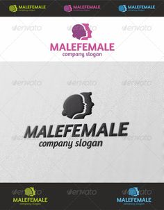 Male & Female Logo — Photoshop PSD #female head #dating • Available here → https://graphicriver.net/item/male-female-logo/4060830?ref=pxcr