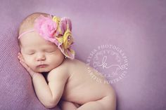 Pink and yellow rosette with chiffon flower headband. $15.50, via Etsy. Birdie Baby Boutique. Flower Headband.