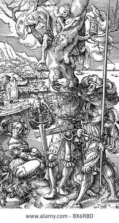 "Death, ""death And The Landsknecht"", Woodcut By Urs Graf, 1524 Stockfoto, Lizenzfreies Bild: 33341489 - Alamy"