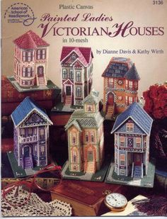 Image detail for -Painted Ladies Victorian Houses in Plastic Canvas Pattern…