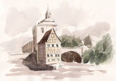 Old house in Bamberg original watercolor original painting german art landscape painting german watercolor german landscape germany art #GermanPainting #WatercolorPainting #watercolour #GermanyWatercolor #GermanArchitecture #OriginalWatercolor #OriginalPainting #HalfTimberedArt #GermanArt #bamberg
