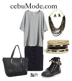 """Striped Shirt 1"" by cebumode on Polyvore featuring GUESS"