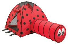 $72.98 Pacific Play Tents Ladybug Nylon Play Tent and Tunnel Combo