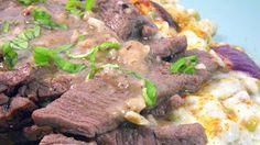 Inspired By eRecipeCards: Beef Strips with garlic and Rosemary (Stracetti de Manzo con Aglio e Rosmarino)