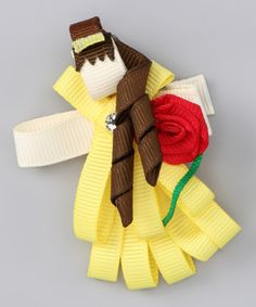 Take a look at this Yellow Princess Rose Clip by Picki Nicki Hair Bowtique on #zulily today!