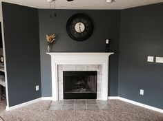 Sherwin Williams Wall Street paint. Smoky blue. Love this color!
