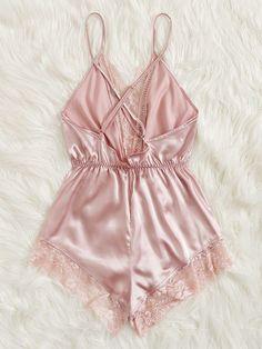 Lace Lingerie Set, Pretty Lingerie, Bridal Lingerie, Luxury Lingerie, Pijama Satin, Wedding Undergarments, Pijamas Women, Satin Cami Dress, Satin Slip