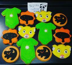 Orden entregada el sábado. Una docena. Galletas inspiradas en #lionking para un #babyshower #lionkingcookies 😍🍪👌💪😋 #mycookiecreations #cookies #Disney #disneycookies #babyshowercookies