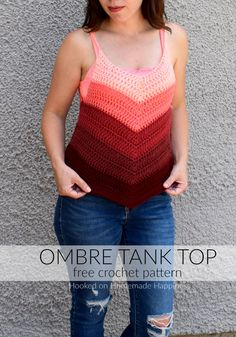 Ombre Crochet Tank Top | Hooked on Homemade Happiness