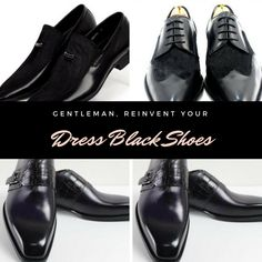 Men's black shoes are more trendy than you think!