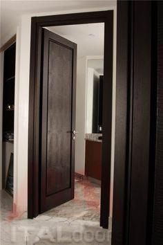 Powder Room Entry Door in Wenge/Crocodile Textile & images of unusual interior doors   Sliding Barn Doors for Unique ...