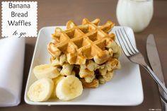 banana bread waffles to go - via I Heart Eating