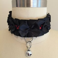 Black and Red Kitten Play Collar, Cosplay Collar, Pet Play Collar by TheFlirtyKitten on Etsy