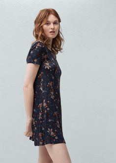 Flowy print dress - Dresses for Women | MANGO USA