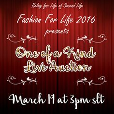 4m my Eyes: Mark your calendars for the Fashion for Life, OOAK...