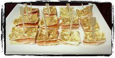 Milhojas de salmón ahumado y queso de untar. Tahona Artesanal Gourmet Bilbao.
