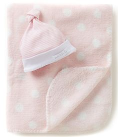 2e9af8705d5 Shop for Mud Pie Baby Striped Beanie Hat   Dotted Blanket Set at  Dillards.com. Visit Dillards.com to find clothing