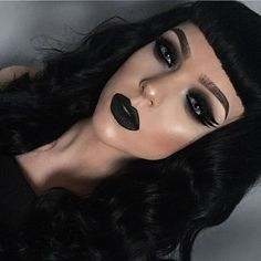 Makeup for your enemies ⚔️ /katvondbeauty/ Tattoo Liner, Lock It Tattoo foundation and Shade and Light contour palette. Venus Palette shade Aura as a face highlight Dipbrow in granite and clear brow gel. Liquid lipstick in Midnight Goth Makeup, Makeup Inspo, Makeup Inspiration, Beauty Makeup, Eye Makeup, Hair Makeup, Hair Beauty, Grunge Makeup, Beauty Art