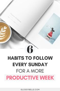 If you always get a serious case of the Monday Blues, here are 6 ways to start the week off right every Sunday so you'll have a more productive and easygoing week. girlboss | motivation | goals | productivity | planners | meal planning | goal setting | organization