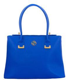 Look what I found on #zulily! Dazzling Blue Abella Leather Tote by Segolene En Cuir #zulilyfinds