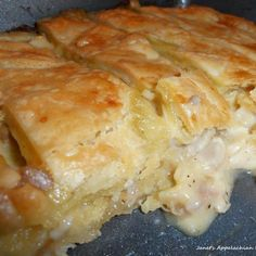 This is one of our favorite chicken pies.  When my son would come home from a tour of duty as a Marine, this is the one thing he requested to eat every time.