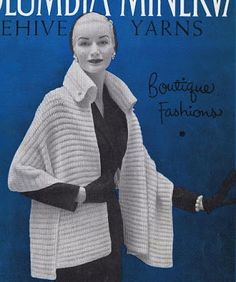 The   Vintage   Pattern   Files: 1950's Knitting - The Manhattan Stole with Collar