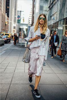 Veronika Heilbrunner in New York ©Tommy Ton