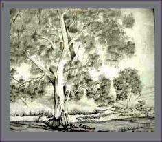 Bleistift auf Email, Margarete Clark, Australien 1992