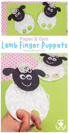 Yarn Lamb Finger Puppets are so fun as a Spring craft or Easter craft for kids. They are super simple to make and have a wonderful messy yarn texture that makes them seem really woolly. This interactive lamb craft is perfect for little hands! Why not make a whole flock? #kidscraftroom #kidscrafts #springcrafts #eastercrafts #lambcrafts #sheepcrafts A Paper Animal Crafts, Animal Crafts For Kids, Spring Crafts For Kids, Crafts For Kids To Make, Craft Activities For Kids, Art For Kids, Farm Activities, Preschool Ideas, Toddler Activities