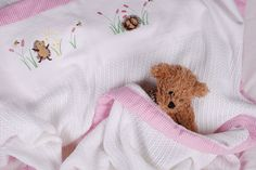 Girl Hedgehogs in flower field cotton cellular blanket with pink gingham trim - a must-have item for every baby - the ideal gift. From www.tomandbella.co.za Pink Gingham, Must Have Items, Hedgehogs, Baby Gifts, Flower, Kids, Cotton, Young Children