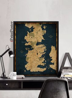 Game of Thrones, Westeros, Westeros map, Game of Thrones map print, Game of Thrones poster, wall art, home Decor, westeros, iPrintPoster. by iPrintPoster on Etsy https://www.etsy.com/listing/233629628/game-of-thrones-westeros-westeros-map