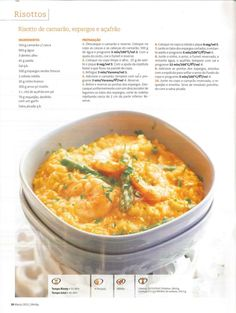 Revista bimby 2011.03 n04 Paella, Food C, Happy Foods, Cooking Tips, Risotto, Macaroni And Cheese, Food To Make, Food Porn, Food And Drink