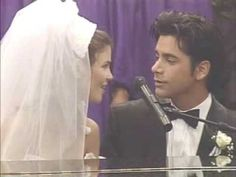 I remember seeing this when I was a kid and thinking it was just the most romantic thing ever.  Jesse Sings 'Forever' To Rebecca - Full House
