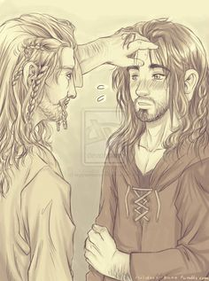 """Kili... you have a fever!"" ""Fi, it's okay! I feel fine!"" ""No. You should sit down."" -Fili"