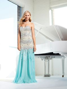 TERANI COUTURE P1518  This specific Terani Couture P1518 style dress is great for gatherings necessitating a evening dress..COLOR: Aqua/Nude - SIZE: 0 -- FAST SHIPCOLOR: Aqua/Nude - SIZE: 12 -- FAST SHIPCOLOR: Limegreen - SIZE: 4 -- FAST SHIP
