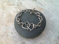 Heart in Heart Bracelet by ZikisInspirations on Etsy, $18.00 #handmade #fashion #love #gifts
