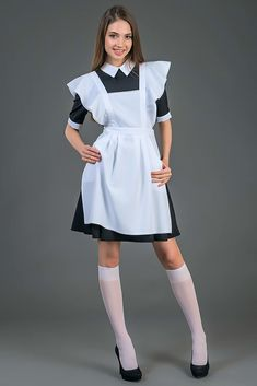 Teen Skirts, Girls In Mini Skirts, School Fashion, Teen Fashion, Girly Girl Outfits, Plus Size Cocktail Dresses, Pantyhose Outfits, Maid Outfit, Just Style