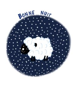 Illustrations Noramouk bonne nuit moutons sheep night http://noramouk.over-blog.com/
