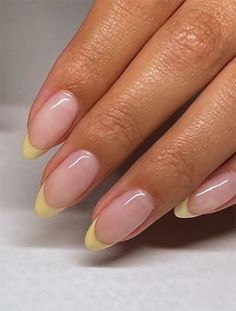 French Tip Acrylic Nails, Best Acrylic Nails, Acrylic Nail Designs, Colored French Nails, Short French Nails, Nail Tip Designs, Colorful French Manicure, Colored Tip Nails, French Manicure With Design