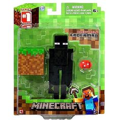 This is the Minecraft Core Enderman action figure. We are huge fans of the entire Minecraft Core line of action figures. From Steve to the Creeper, we thought that the line of figures was styled very Fnaf Action Figures, Minecraft Action Figures, Minecraft Toys, Minecraft Party, Minecraft Stuff, Minecraft Merchandise, The Diamond Minecart, Diy For Kids, Shopping