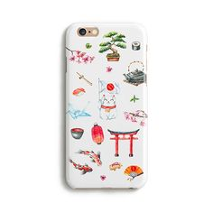 Watercolor Japanese pattern iPhone 7 Plus case by Catsicorn