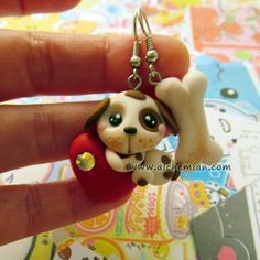 Earrings dog lovers made in italy