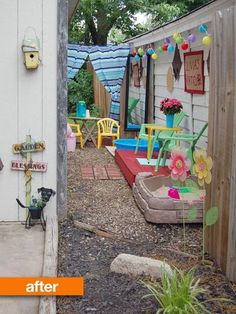 Before & After: Olivia's Kid-Friendly Patio My Great Outdoors | Apartment Therapy