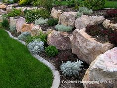 Rock Retaining Wall Images boulder retaining wall offers the experience of 200000 square new trends, Rock Retaining Wall Images, fantastic Interior inspiration Sloped Garden, Landscaping Retaining Walls, Landscaping With Boulders, Hardscape, Hillside Landscaping, Landscape Design, Boulder Retaining Wall, Rock Garden Landscaping, Rock Garden Design