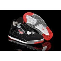 5579a2180bd546 Buy Discount Nike Air Jordan 4 Kids Black Grey Red Shoes from Reliable  Discount Nike Air Jordan 4 Kids Black Grey Red Shoes suppliers.Find Quality  Discount ...
