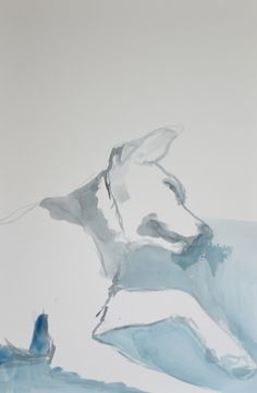 "Saatchi Art Artist Hannah Dean; Painting, ""Figure Study: Dog, or ""Heidi was out of control"" "" #art"